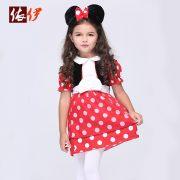 コスチューム衣装 ミッキーマウス Mickey Mouse レッド ドレス 女の子用-halloween-trz0725-0315 3