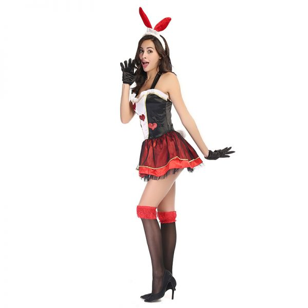 Bunny Costumes セクシー ハロウィン コスプレ衣装 ナイトクラブ 制服-Halloween-trw0725-0028