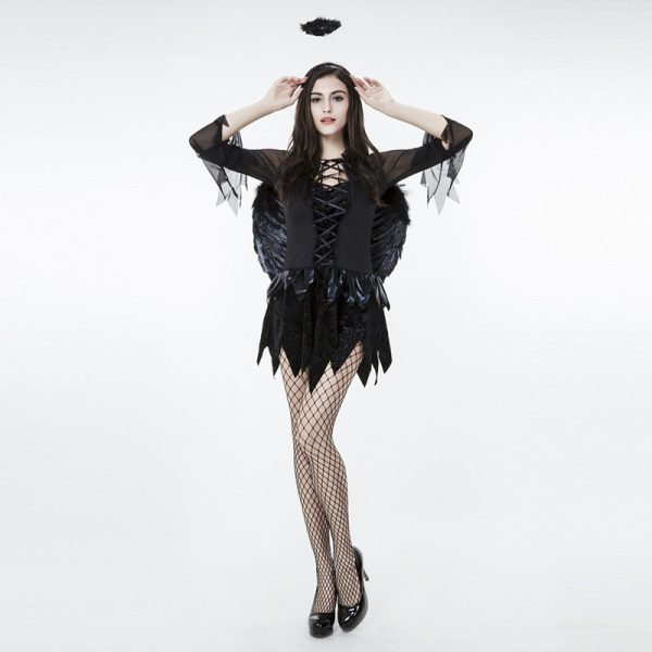 Angel Costumes エンジェル 女?魔 cosplay服 ハロウィン ゲームの服-Halloween-trw0725-0254