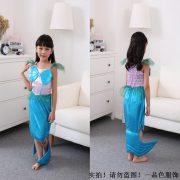 ディズニー マーメイドプリンセスドレス  ハロウィン cosplay服 人魚姫/マーメイド-Halloween-trw0725-0278 3