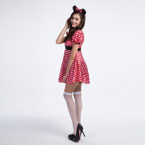 ミッキーマウス プリティー ミニー 大人用 Adult Pretty Minni ハロウィン ディズニー 仮装衣装 コスプレ コスチューム ディズニー 大人用 女性用 レディース-Halloween-trw0725-0281