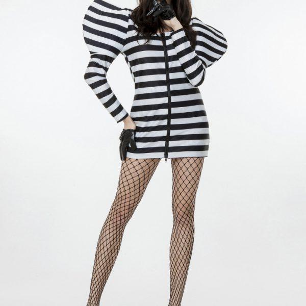 コスプレ 囚人服 囚人コスプレ ハロウィン 仮装 lady gagaレディーガガ 衣装  Lady Gaga レディー ガガ 衣装 ハロウィン 囚人 コスプレ衣装 -Halloween-trw0725-0393