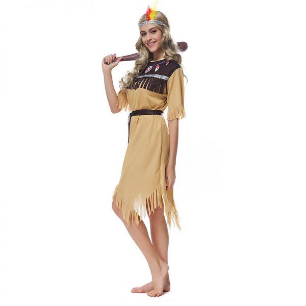 インディアン 民族 コスプレ コスチューム 衣装 ヘッドレス アメリカン先住民族 コスプレ 髪飾り 羽 カーニバル風 ハロウィン-Halloween-trw0725-0473