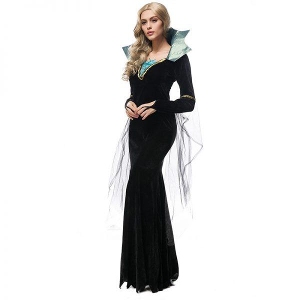 新作 ブラック イブニングドレス 吸血鬼 クイーン-Halloween-trw0725-0249