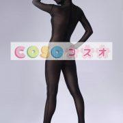 全身タイツ,ベルベット全身タイツ 開口部のない ブラック コスチューム衣装―taitsu-tights0142 4