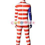 全身タイツ アメリカンの国旗柄 ユニセックス 大人用 コスチューム衣装 コスプレ ―taitsu-tights1224 4