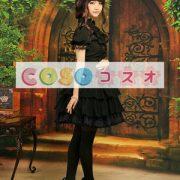 シフォンスカート ブラック ロリィタスカート レーストリム ―Lolita0003 4