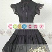 甘いの純粋な綿スタンド襟フリルの付いたロリータワン ピース ―Lolita0049 4