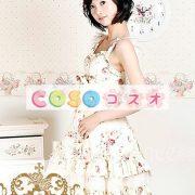 かわいいノースリーブ コットン ベージュ ロリータ ドレス ―Lolita0243 4