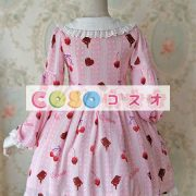 かわいい長袖弓シフォン ロリータ ワンピース ―Lolita0245 3