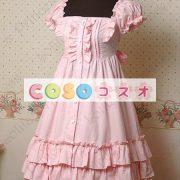 甘いスクエア ネック ピュア コットン カントリーロリータ ドレスをフリルします。 ―Lolita0297 4