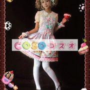 ジャンパースカート ピンク・ブラウン クリーム猫 リボン 可愛い ―Lolita0330 4