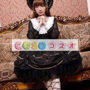 女性のための黒弓シフォン カントリーロリータ ドレス ―Lolita0601 4