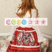 エレガントな赤レース ゴスロリ スカートを印刷 ―Lolita0679 4