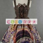 紫のロリータ ドレス ストラップ プリント シフォン ドレス ―Lolita0791 4