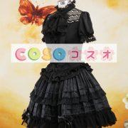 ロリータセパレート,ブラック ショートスリーブ ティアド ゴシック シャツ  ―Lolita0879 4