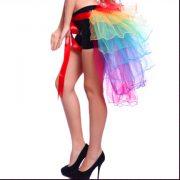 バッスルタイプレインボーパニエ・テールスカート/チュチュ/ペチコート/コスプレ/セクシーコスプレ・ハロウィン・halloween・仮装パーティ、キャバクラ、お店、キャバ衣装・ナイトドレス・セクシード-Halloween-trw0725-0167 4