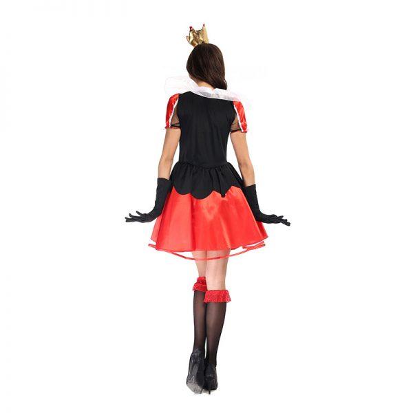 Halloween Costumes デジタルポーカー クイーン ハロウィン 舞台衣裳 ゲームの服-Halloween-trw0725-0294