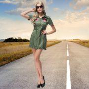 舞台演出服 制服 女性用 ハロウィン cosplay スチュワーデス-Halloween-trw0725-0392 4