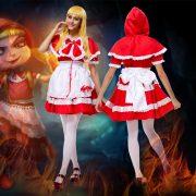 赤ずきんちゃん かつら 靴 ハロウィン コスプレ-Halloween-trw0725-0071 4