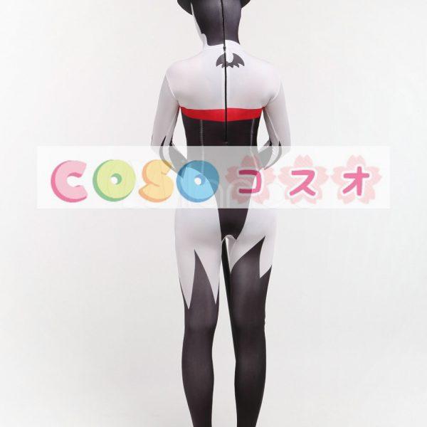 全身タイツ 悪魔 ユニセックス 大人用 コスチューム カラーブロック 開口部のない全身タイツ 人気―taitsu-tights0188