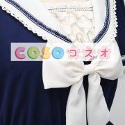 ロリィタワンピース ディープブルー 半袖 セーラースタイル ―Lolita0015 5