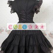 甘いの純粋な綿スタンド襟フリルの付いたロリータワン ピース ―Lolita0049 5