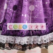 グレープ ショットスカート ロリィタスカート サロペットスカート タンポポ プリント ―Lolita0159 5
