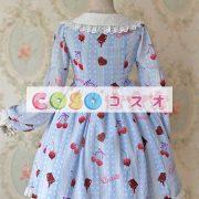 かわいい長袖弓シフォン ロリータ ワンピース ―Lolita0245 4