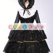 女性のための黒弓シフォン カントリーロリータ ドレス ―Lolita0601 5