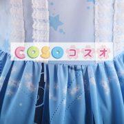 オンブル ブルー スター プリント レースかわいいロリータ ドレス ―Lolita0658 5