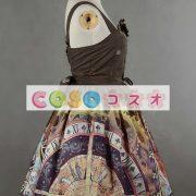 紫のロリータ ドレス ストラップ プリント シフォン ドレス ―Lolita0791 5