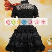 ロリータセパレート,ブラック ショートスリーブ ティアド ゴシック シャツ  ―Lolita0879 5