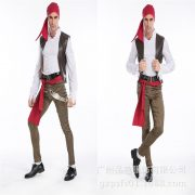 Pirate カリビアン 大人用 海賊 船長  ハロウィン cosplay 舞台演出服 コスプレ衣装-Halloween-trw0725-0243 5