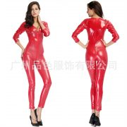 キャットスーツのコスチューム レディース(女性) コスプレやハロウィンに全身タイツ!赤 スーツ パーティーの衣装 ボンテージ  赤 ボディースーツ-Halloween-trw0725-0326 5
