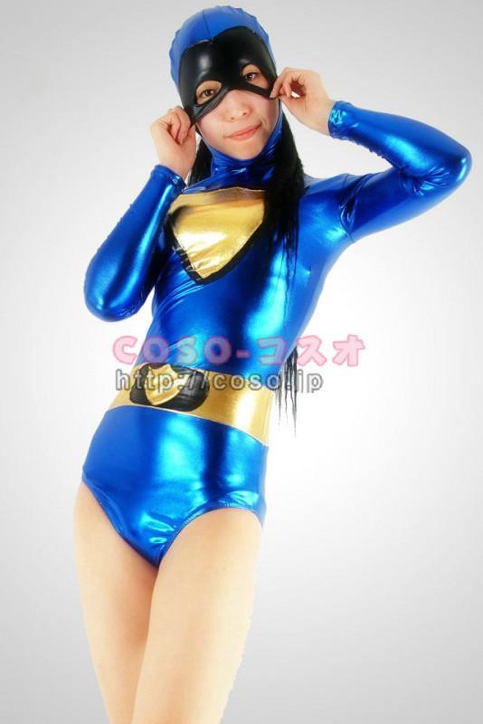 スーパーマン ブルー&イー ハーフボディー メタリック 全身タイツ―2taitsu0008