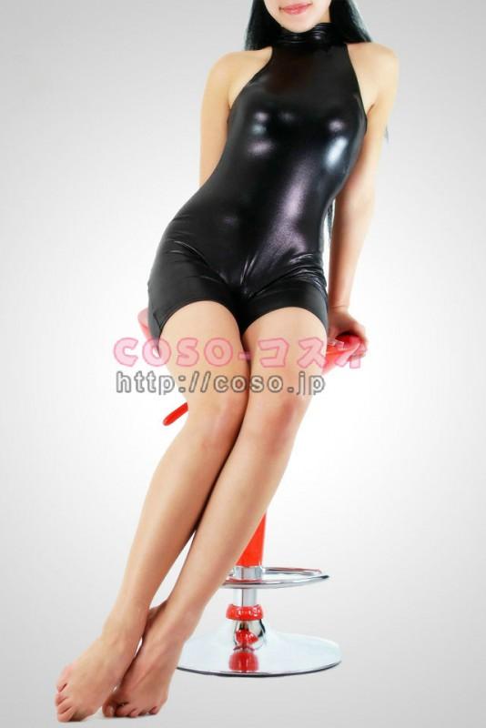 袖なし ブラック ショートパンツ メタリック 全身タイツ―2taitsu0026