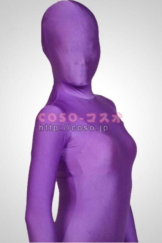 透明人間 紫色 ライクラ 全身タイツ 覆面透明人間―3taitsu0011