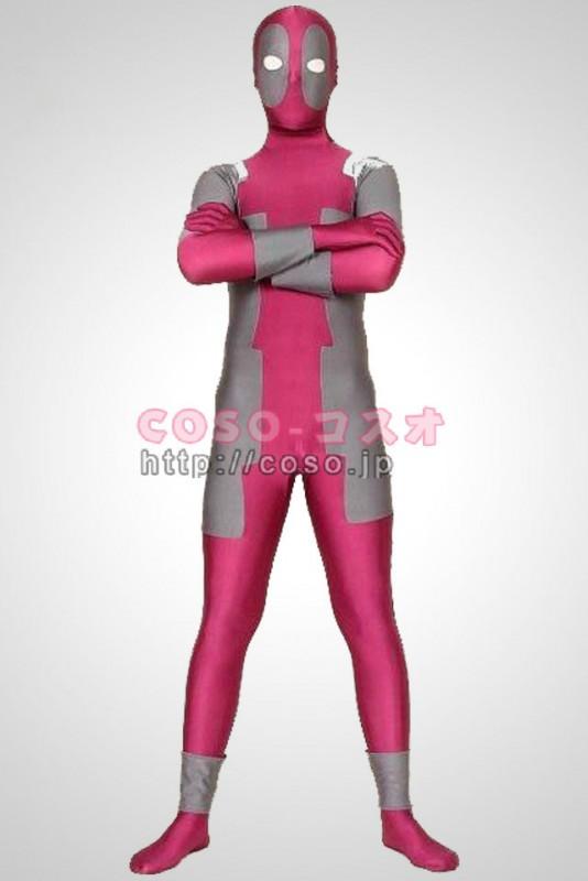 レッドとグレー ライクラ スパンデックス スーパーヒーローコスプレ衣装―3taitsu0078