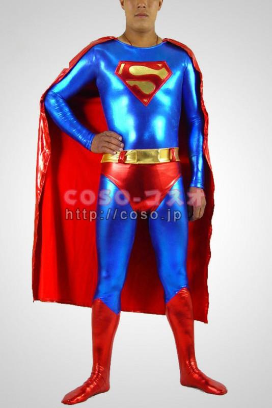 スーパーマン ブルーとレッド メタリック Superman マント付き―8taitsu0002
