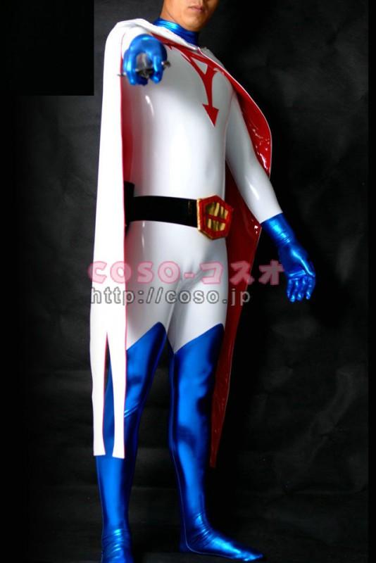 スーパーマン メタリック スーパーヒーロー マント付き コスチューム―8taitsu0009