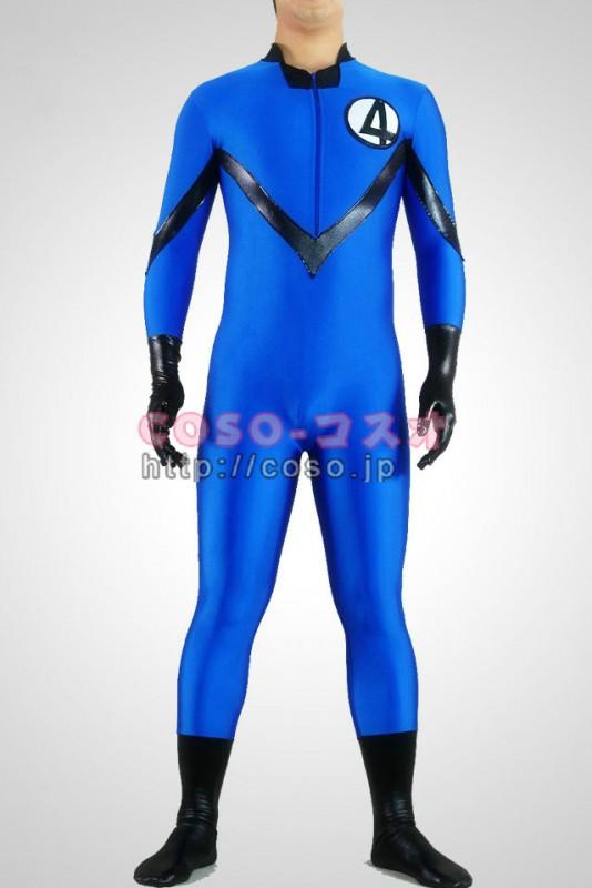 スーパーマン ブルーと黒色 ライクラ&メタリック NEW―8taitsu0011