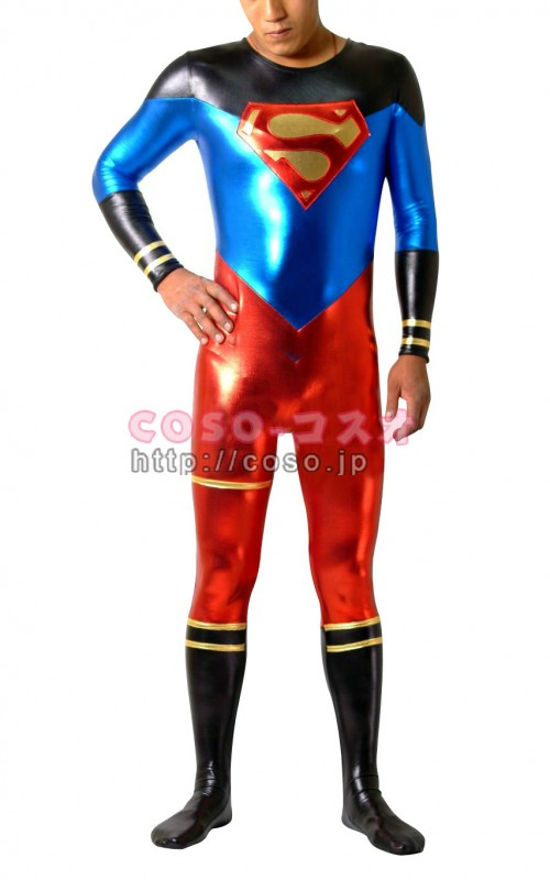 スーパーマン メタリック スーパーヒーロー マスクなし―8taitsu0015
