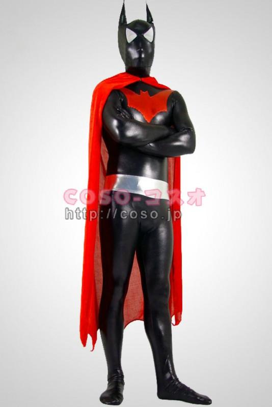 スーパーマン メタリック 黒いバットマン 赤いマント付き―8taitsu0017