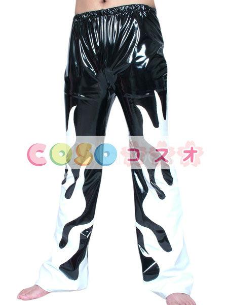全身タイツ PVC 男性用 ズボン 大人用 ブラック コスチューム パンツ レスリング―taitsu-tights1014