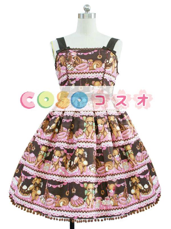 コルセット 可愛い 合成繊維 パーティー ピンク  ―Lolita0592