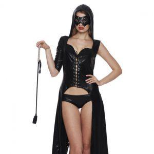 エナメルバラックのマーメイドドレス セクシーコスチューム 艶めかしい―9taitsu0055