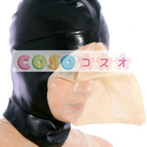 バック ジッパー動物黒ラテックス フードの形状―taitsu-tights0080