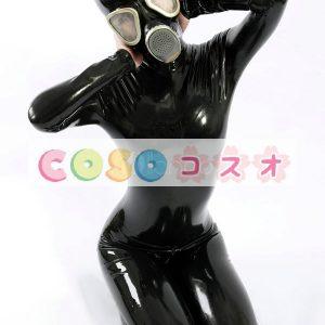 ラテックスキャットスーツ,ユニセックス 大人用 ブラック 変装パーティー コスチューム―taitsu-tights0166