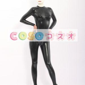 コスチューム衣装 全身タイツ メタリック ブラック レオタード 大人用 女性用 新作―taitsu-tights0377